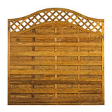 Timber garden fance panel Stock Images