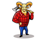 Timber Goat Stock Images