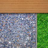 Timber, grass and aggregate details Royalty Free Stock Photography