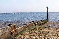 Timber Groyne stock photo