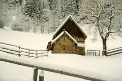 Timber House in the mountain Royalty Free Stock Images