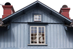 Timber Houses in Hjo Royalty Free Stock Photography
