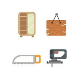 Timber icons vector illustration. Stock Photography