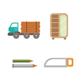 Timber icons vector illustration. Royalty Free Stock Photos