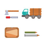 Timber icons vector illustration. Stock Image