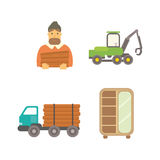 Timber icons vector illustration. Royalty Free Stock Photography