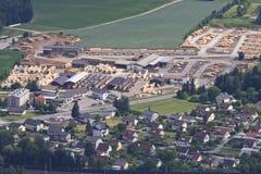Timber industry in Austrian Villach-Fürnitz, Carinthia Royalty Free Stock Photography