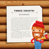 Timber Industry Background with Lumberjack Royalty Free Stock Photo
