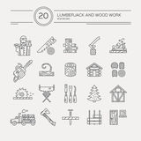 Timber Industry Icons Stock Image