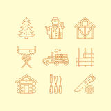 Timber Industry Icons Royalty Free Stock Photography