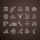 Timber Industry Icons Royalty Free Stock Photo
