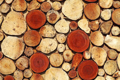 Timber log mosaic Stock Photo