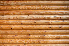 Timber logs wall closeup texture pattern Royalty Free Stock Photos