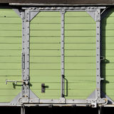 Timber mint green sliding door Royalty Free Stock Photography