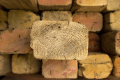 Timber with one poking out Royalty Free Stock Photos