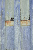 Timber panels, textured wood and rusty metal Royalty Free Stock Photo