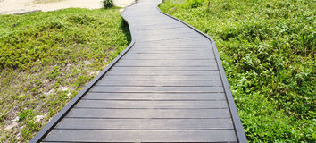 Timber pedestrian walk to the beach Royalty Free Stock Photography