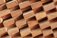 Timber piles for making furniture. Stock Image