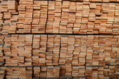 Timber piles for making furniture. Royalty Free Stock Photos