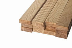 Timber. Pine boards on a white background. Stock Images