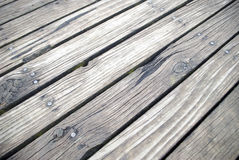 Timber plank boardwalk background Stock Photography