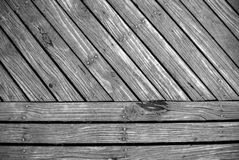 Timber plank boardwalk background Royalty Free Stock Images