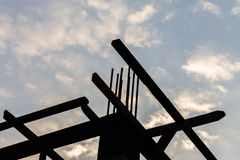 Timber prop silhouette Royalty Free Stock Photos