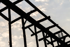 Timber prop silhouette Stock Image