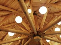 Timber roof Stock Photo