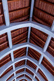 Timber Roof and Stone Arches Stock Photography