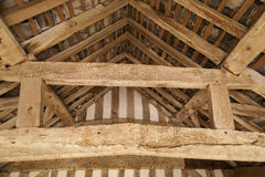 Timber roof supports Stock Photography