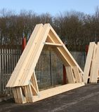 Timber Roof Trusses Stock Photos