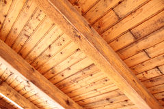 Timber roof trusses Stock Image