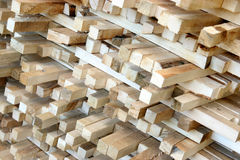 Timber in sawmill. Details of timber in sawmill Royalty Free Stock Image