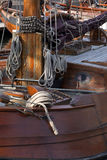 Timber ship in the port Royalty Free Stock Images
