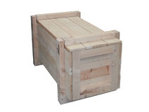 Timber shipping crate Stock Images