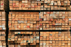 Timber. Stack of sawn timber background stock photography