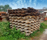 Timber Stacked Royalty Free Stock Photo