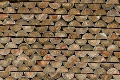 Timber stacking. Royalty Free Stock Image