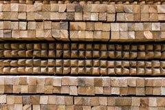 Timber stacking. Stock Image