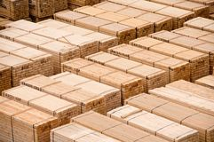 Timber stock. At docks waiting for loading Royalty Free Stock Photography