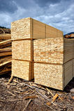 Timber stock supply Stock Images