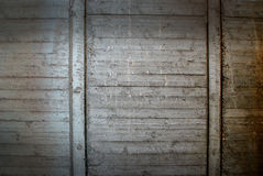 Timber structure on concrete Stock Image