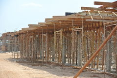Timber support for timber beam formwork Royalty Free Stock Photo