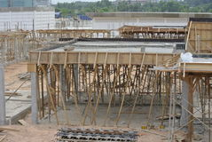 Timber support for timber beam formwork Royalty Free Stock Images