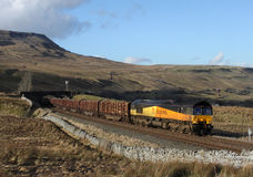 Timber train at Ais Gill Stock Photography