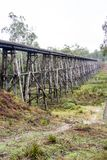 Trestle bridge very old in Australia stock photography