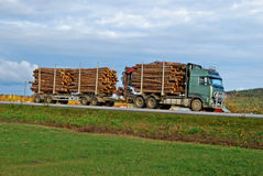 Timber truck Royalty Free Stock Photo