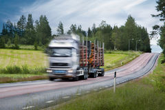 Timber truck Stock Images
