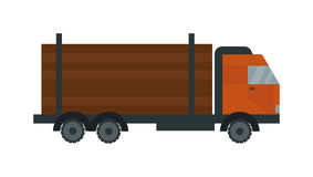 Timber truck vector illustration. Royalty Free Stock Photos
